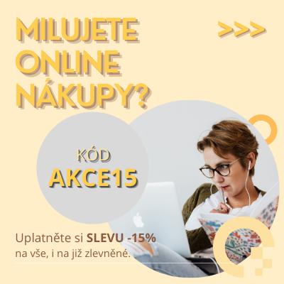 MILUJETE ONLINE NÁKUPY? SLEVA -15%