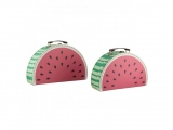 KARTONOVÝ KUFŘÍK WATERMELON SET 2 KS