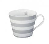 HRNEK GREY STRIPES - PORCELÁN - 350 ML