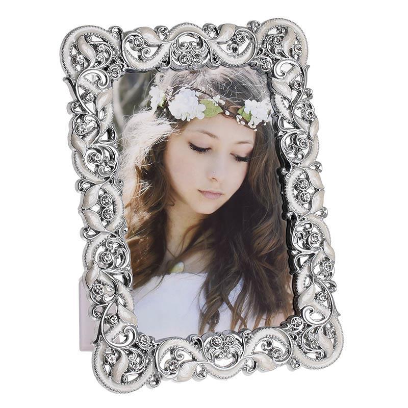 Stříbrný rámeček na fotku - 22 cm