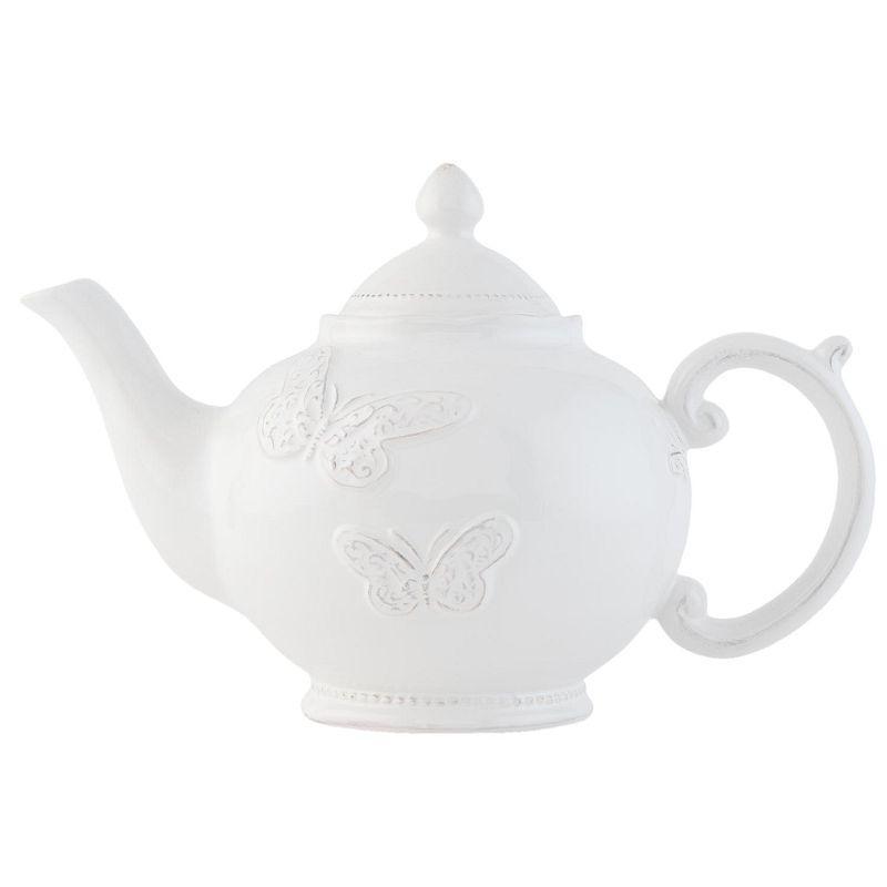 Keramická konvička na čaj Tableware Butterfly 1 l (Clayre & Eef)