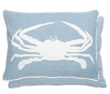 Polštář s výplní - krab 50 x 35 cm