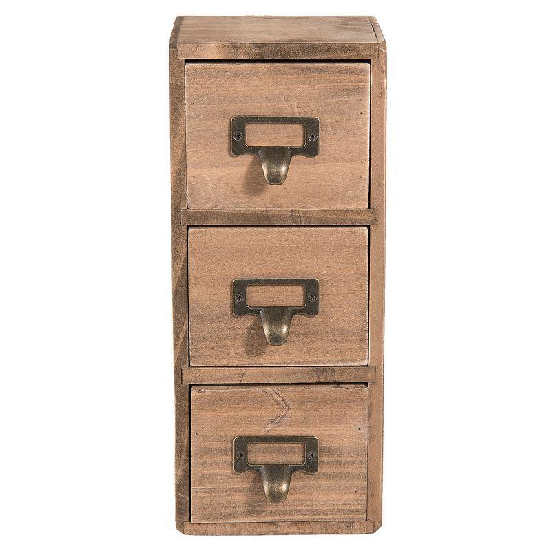 Mini skříňka se zásuvkami 27 cm (Clayre & Eef)