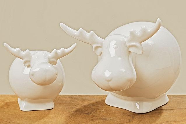 Sobík porcelánový bílý - velký