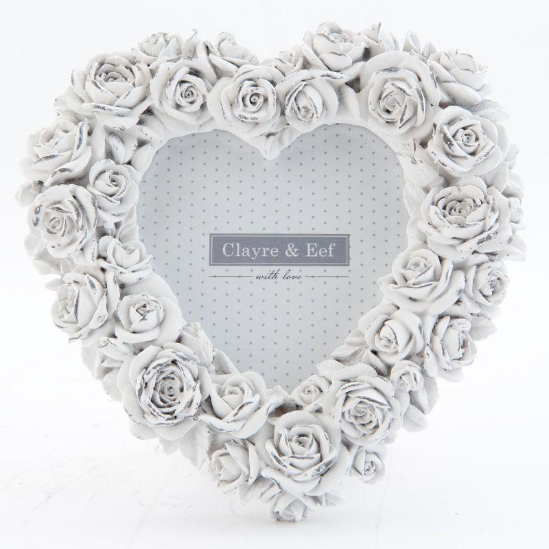 Rámeček na fotku HEART OF ROSSES - 15 x 2 x 15 cm (Clayre & Eef)