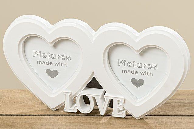 Rámeček na fotku bílý Heart Love