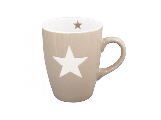 """PORCELÁNOVÝ HRNEK """"STAR"""" - HNĚDÝ 330 ML (KRASILNIKOFF)"""