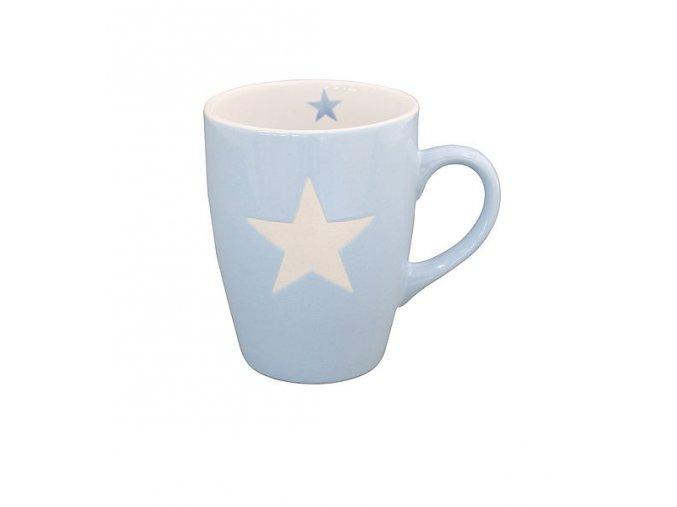 """PORCELÁNOVÝ HRNEK """"STAR"""" - SVĚTLE MODRÝ 330 ML (KRASILNIKOFF)"""