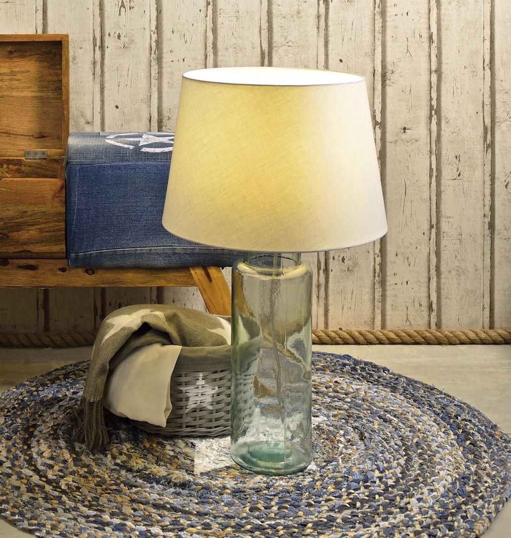 Skleněná lampa 70 cm