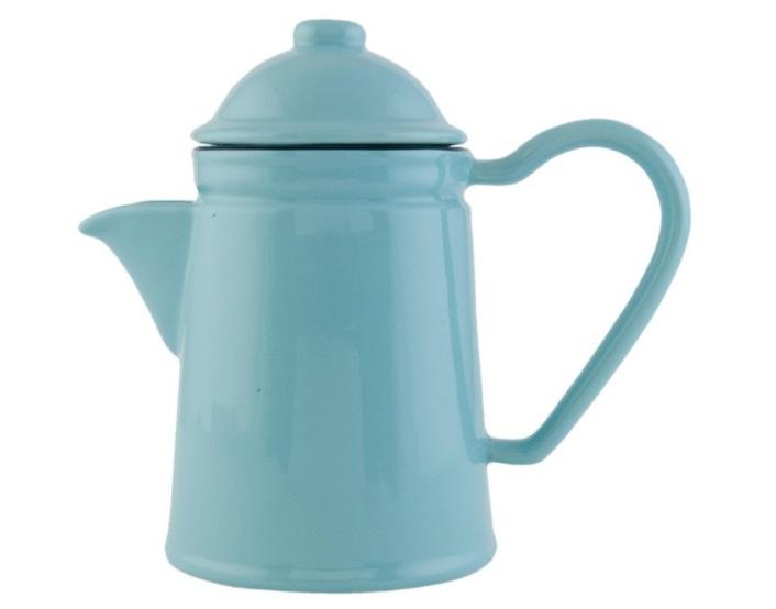 Konvička na čaj Enamel Blue - modrá (Clayre & Eef)