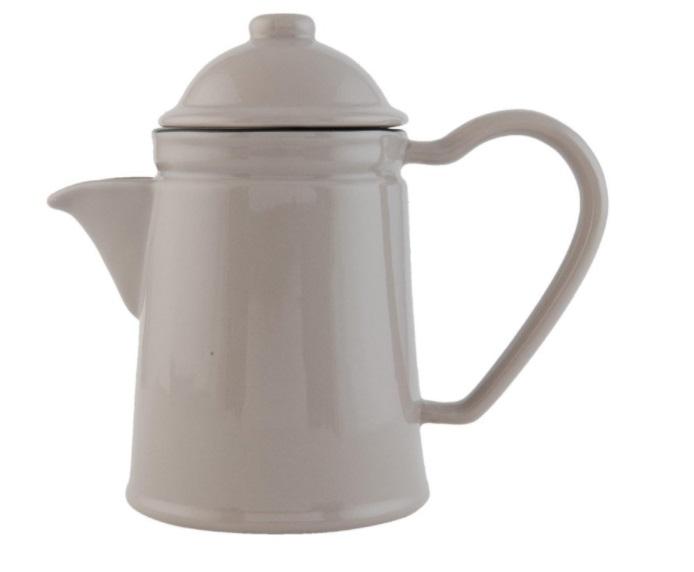 Konvička na čaj Enamel Grey (Clayre & Eef)