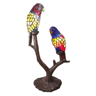 Stolní lampa Tiffany TWO PARROTS 50 x 24 x 63 cm