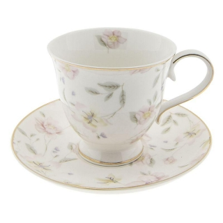 Porcelánový šálek s podšálkem TABLE WARE FLOWERS 0,22 L