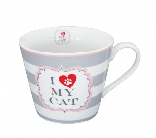 HRNEK I LOVE MY CAT - PORCELÁN - 350 ML